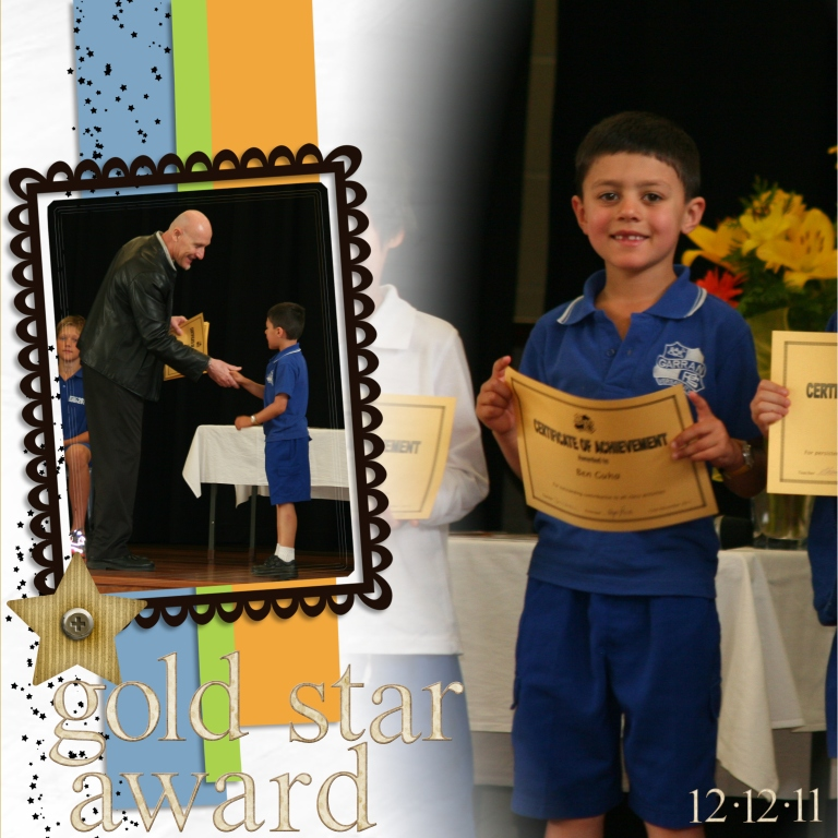 Ben's school award